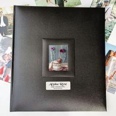 1st Birthday Photo Album 500 Black