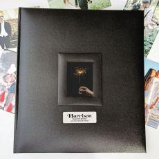 80th Birthday Photo Album 500 Black