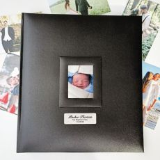 Personalised Baptism Photo Album 500 Black