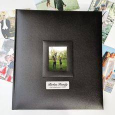 Personalised  Family Photo Album 500 Black
