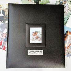 Personalised Memorial Photo Album 500 Black