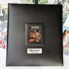 Personalised Retirement Photo Album 500 Black