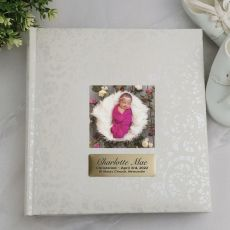 Personalised Baptism Photo Album - 200 Cream Lace