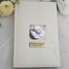 Personalised Cream Lace Baptism Photo Album - 300