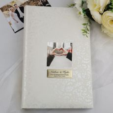 Personalised Cream Lace  Engagement Photo Album - 300