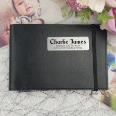 Personalised Baptism Brag Photo Album - Black