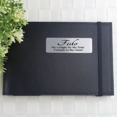 Personalised Pet Memorial Brag Photo Album - Black