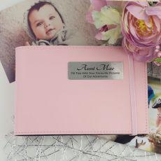 Personalised Aunty  Brag Photo Album - Pink