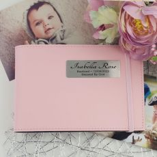 Personalised Baptism Brag Photo Album - Pink