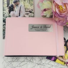 Personalised Engagement Brag Photo Album - Pink