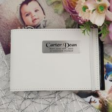 Personalised Baby Brag Photo Album - White