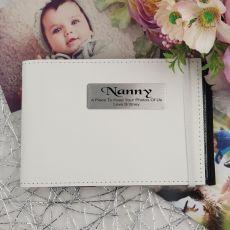 Personalised Nan Brag Photo Album - White