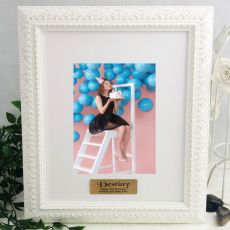 16th Personalised Photo Frame Venice White 5x7