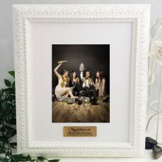 40th Personalised Photo Frame Venice White 5x7