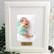 Baby Personalised Photo Frame Venice White 5x7