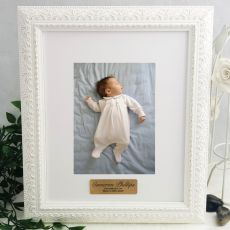 Christened Personalised Photo Frame Venice White 5x7