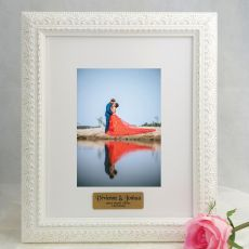 Engagement Personalised Photo Frame Venice White 5x7