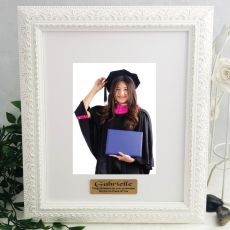 Graduation Personalised Photo Frame Venice White 5x7