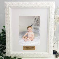 Naming day Personalised Photo Frame Venice White 5x7
