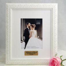 Wedding Personalised Photo Frame Venice White 5x7