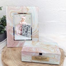 1st Birthday Marmo Frame & Jewel Box Set