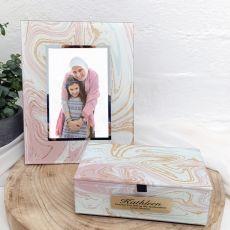 Godmother Marmo Frame & Jewel Box Set