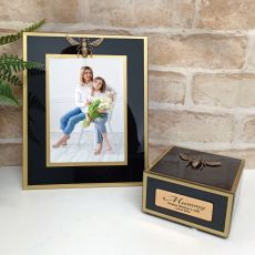 Mum Black Bee 5x7 Frame & Jewel Box Set