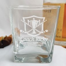 Hockey Coach Engraved Personalised Scotch Spirit Glass