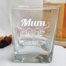 Mum Engraved Personalised Scotch Spirit Glass