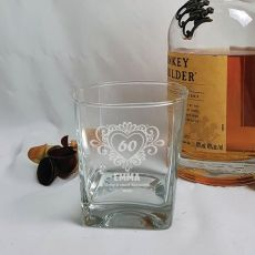 60th Birthday Engraved Personalised Scotch Spirit Glass (F)