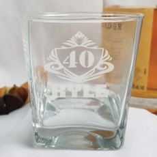 40th Birthday Engraved Personalised Scotch Spirit Glass (M)