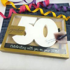 50th Birthday Signature Number Block