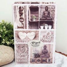 16th Personalised Stash Box Book - Love