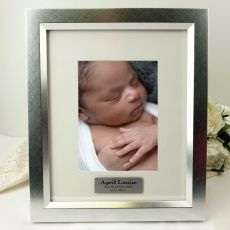 Baby Personalised Photo Frame 5x7 Photo Silver
