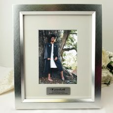 Graduation Personalised Photo Frame 5x7 Photo Silver
