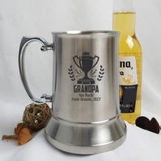 Grandpa Engraved Personalised Stainless Beer Stein Glass