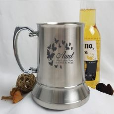 Aunty Engraved Personalised Stainless Beer Stein Glass