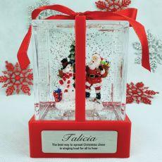 Christmas LED Water Globe Present - Santa