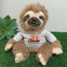 21st Birthday Personalised Sloth Plush - Curtis