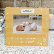 Personalised 1st Birthday  4x6 Photo Frame - Baby Moon