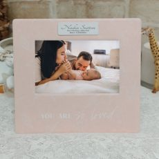 Personalised Baby So Loved 4x6 Photo Frame