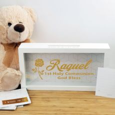 Personalised 1st holy communion Message Box Guest Book