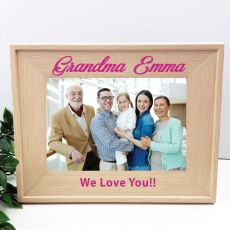 Grandma 5 x 7 Photo Frame with Glitter Print