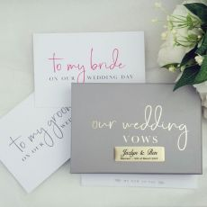 Our Wedding Vows Personalised Writing Set