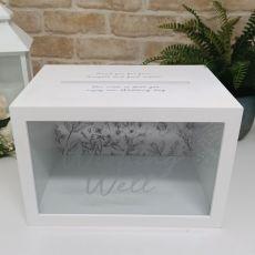 Wedding Wishing Well Card Box - Silver