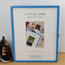 Personalised Little One Baby Boy Keepsake Box