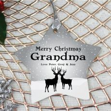 Personalised Grandma Christmas Decoration - Star