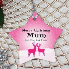 Personalised Mum Christmas Decoration - Star