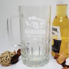 Grandpa Engraved Personalised Glass Beer Stein