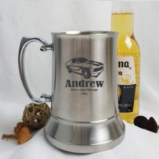 Engraved Personalised Stainless Beer Stein Glass (M)